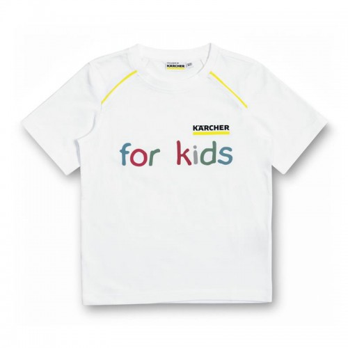 Белая детская футболка, размер 92/98